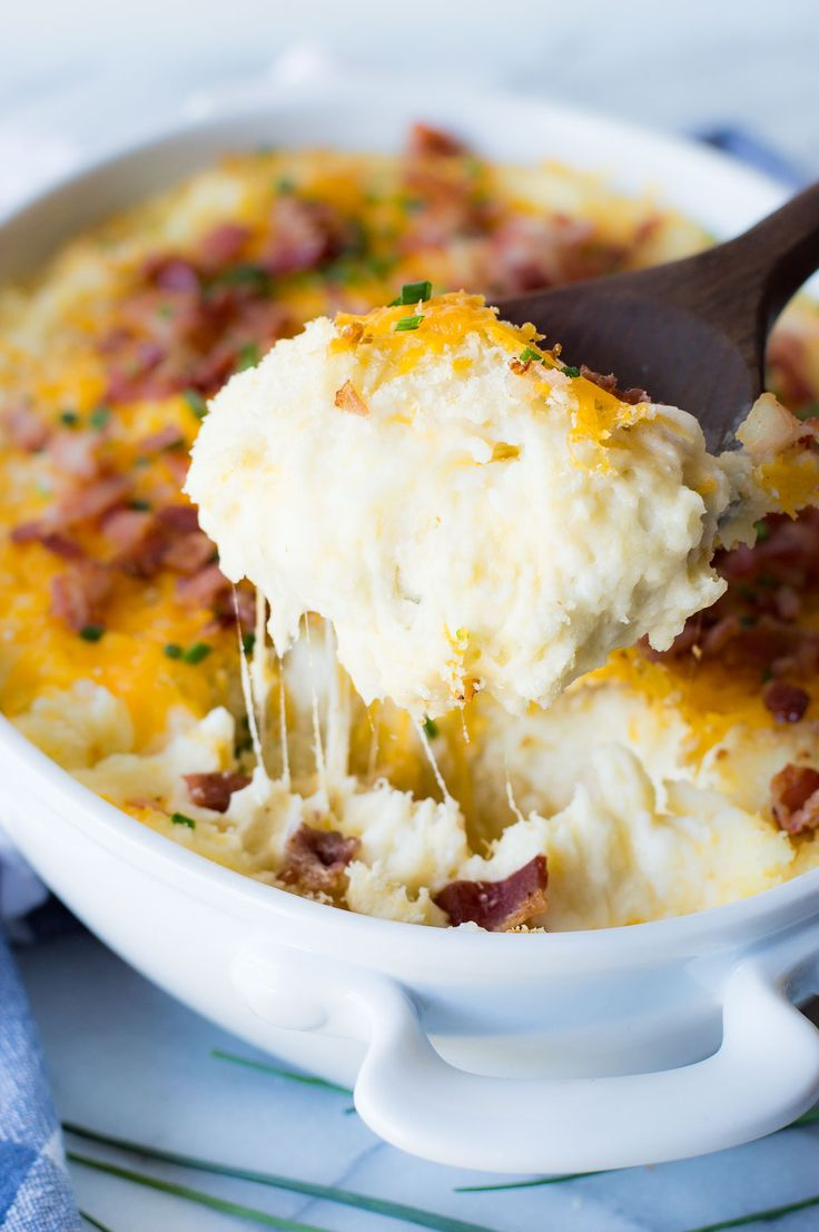 Mashed Potatoes With Bacon And Chives Recipe — Dishmaps