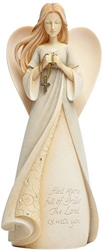 Enesco Foundations Hail Mary Angel Figurine, 8.98-Inch Enesco http://www.amazon.com/dp/B00KCK92J8/ref=cm_sw_r_pi_dp_9xSXub0R2BM5T