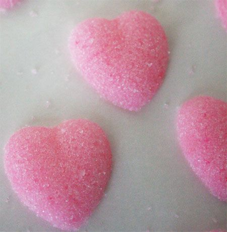 Homemade Sugar Cubes- to go with coffee or tea: Homemade Hearts, Heart Sugar, Homemade Heart Shaped, Pink Heart, Homemade Sugar, Heart Shaped Sugar, Sugar Heart
