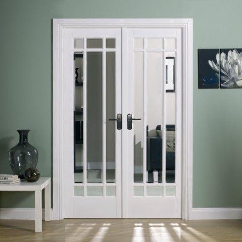 Interior French pocket Doors | Manhattan White W4 Room Divider | Internal French Doors