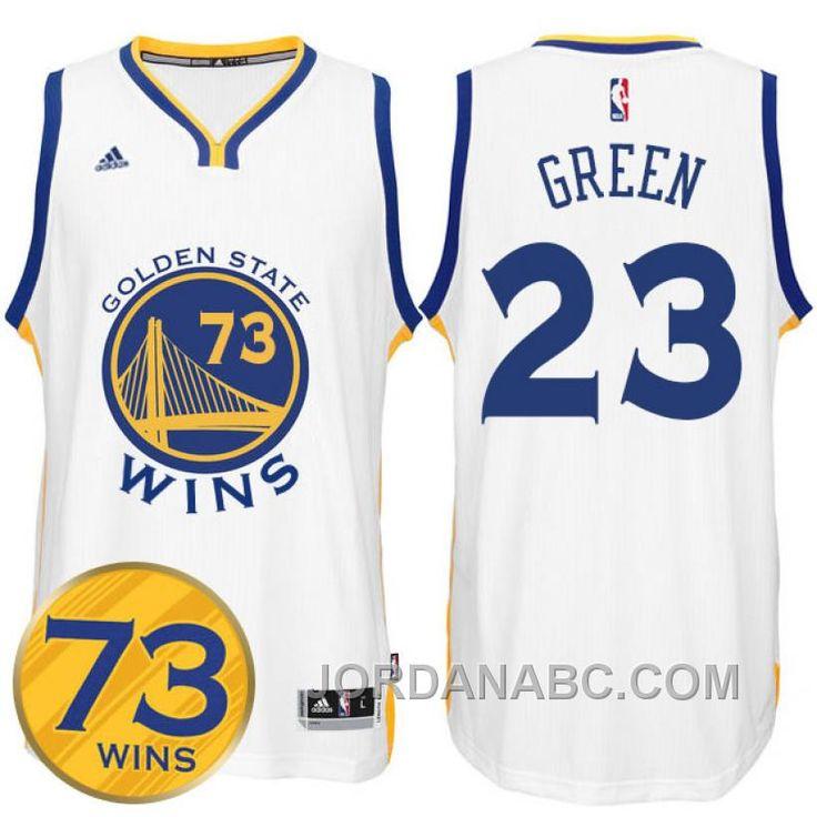 Draymond Green Golden State Warriors  23 Record Breaking Season Exclusive  73 Wins White Swingman Jersey 6cfbf9cad