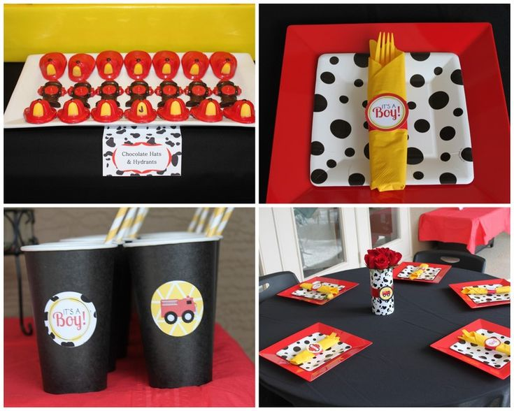 Amazing {REAL PARTY} Fireman Baby Shower