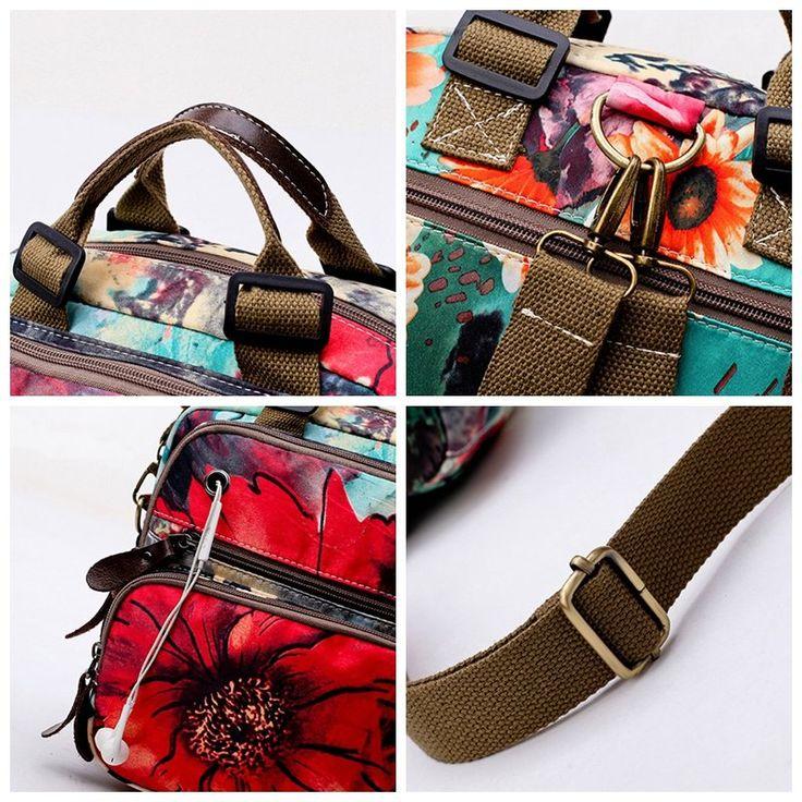 Hot-sale designer National Style Outdoor Flower Pattern Shoulder Bag Crossbody Bag Mommy Backpack For Women Online - NewChic