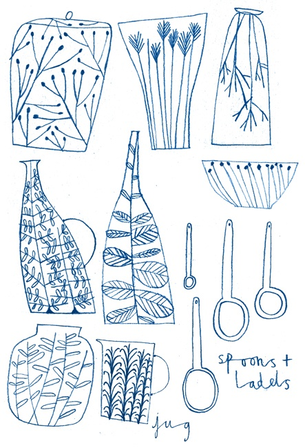 emma lewis drawings + illustrations: first ceramic designs #barecool