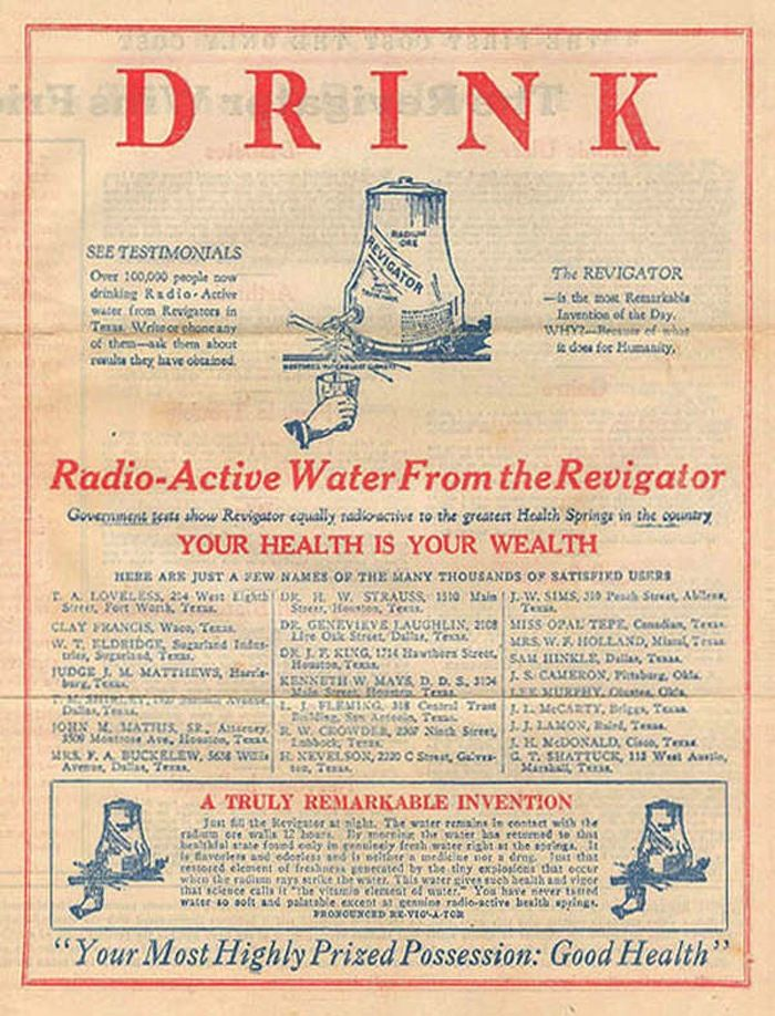 The Radium Girls and the Generation that brushed its Teeth with Radioactive Toothpaste