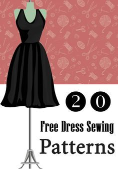 20 Free Dress #Sewing #Patterns   Only For Her