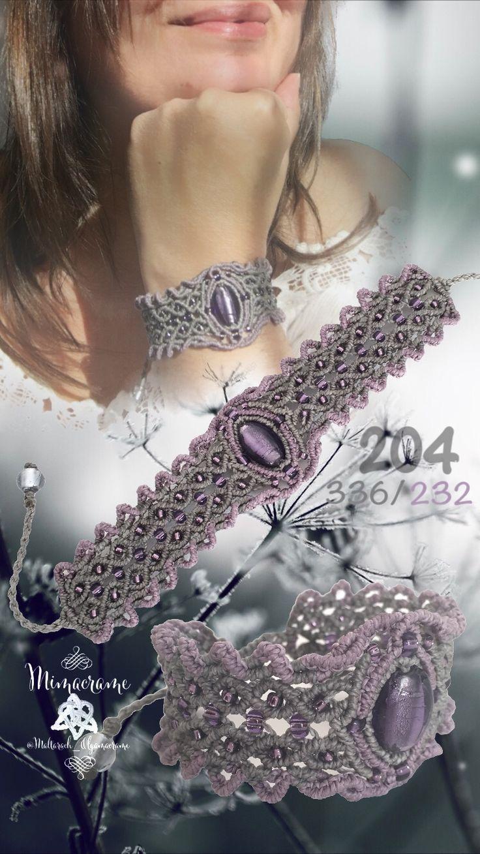 Brazalete micromacramé con cuenta de cristal murano.   #brazalete #macrame #micromacrame  #HechoAMano  #braçalet #FetAMa #bracelet #handmade
