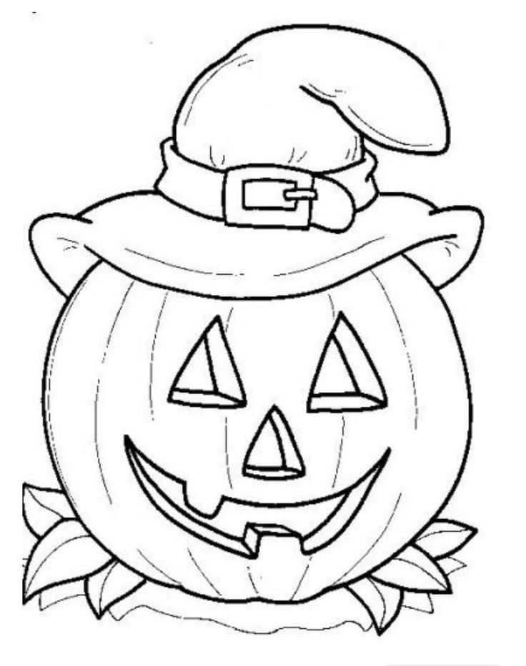 halloween pumpkin coloring page little one friendly to put on the windowswalls