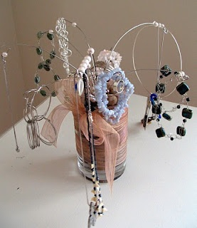 Jewelery Tree Stand from a Whisk.