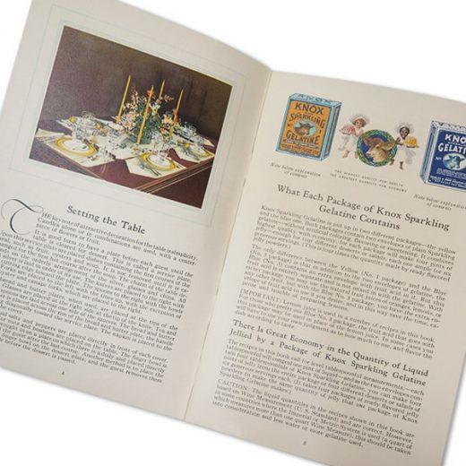 アメリカ 1930-31年 アンティーク本 レシピブック【KNOX dainty desserts ノックス ゼラチン】