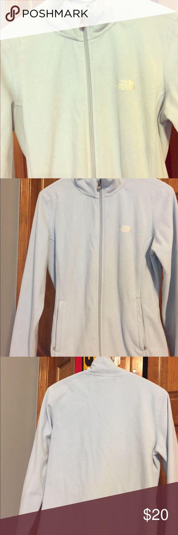 Blue North Face jacket Light blue, full front zip North Face Jackets & Coats Utility Jackets
