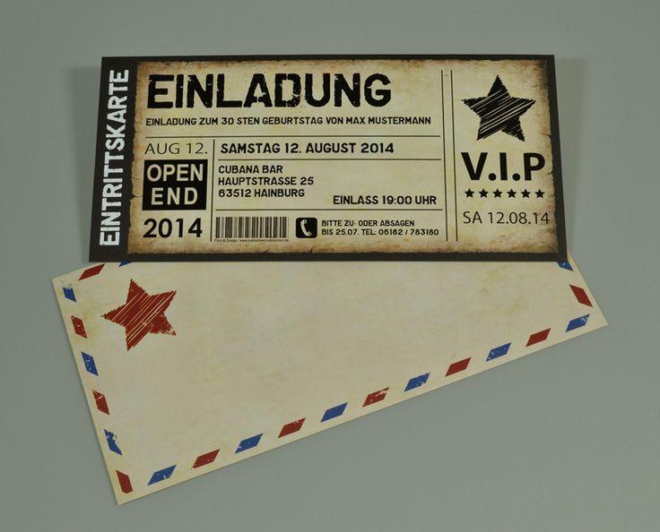 die besten 25+ einladungskarten geburtstag ideen auf pinterest, Einladungen
