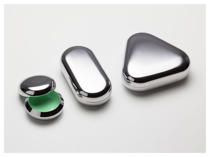 CMF we like / Metal / Glossy / Green / Inside / outside / at Giftware Range - No30 by Office for Product Design