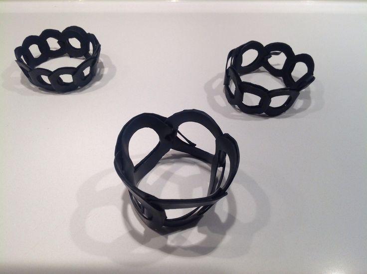 Fietsband schakelarmbanden , bicycle bracelets.