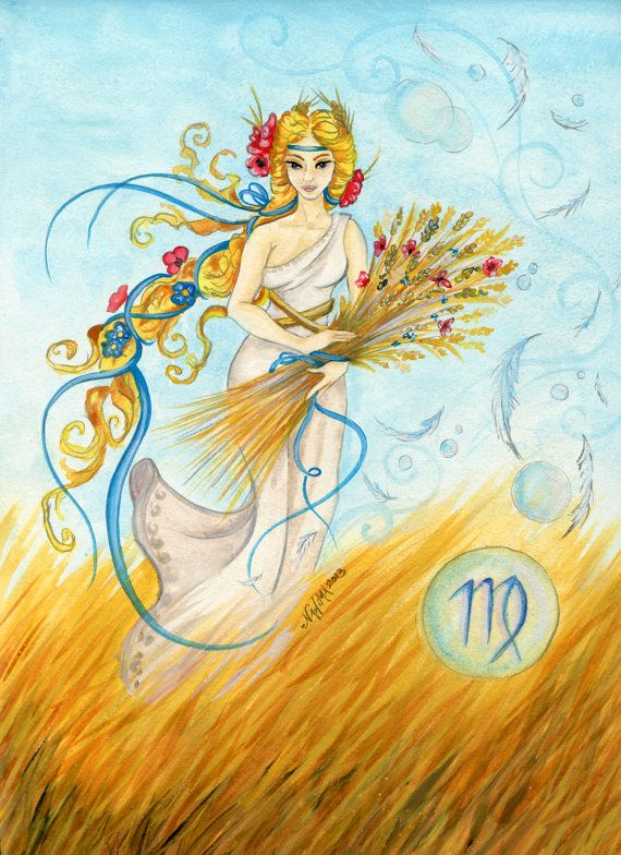Watercolor - Star Sign - Virgo - Print from Original Paintings - Zodiac Series
