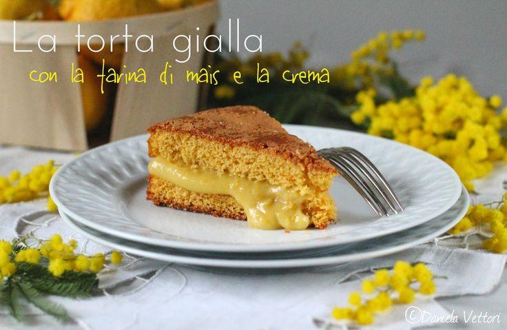 LE CINQUE ERBE: La torta gialla, con la farina di mais e la crema