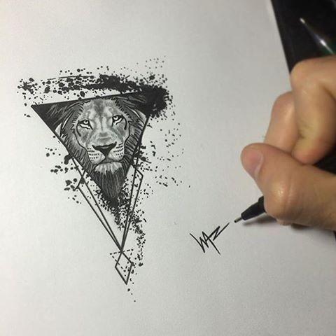 Tattoo design by @gerardowaz #⃣#Equilattera #tattoos #Tattoodesign #tat #tatuaje #tattooed #tattooartist #tattooart #tattoolife #tattooflash #tattoo #tattooist #bestoftheday #original #miami #mia #creative #florida #awesome #love #ink #art #design #artist #illustration #sketch #lion #geometric #watercolor