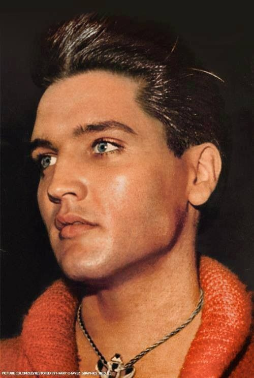 Elvis looking absolutely drop-dead gorgeous. The man is unbelievably good looking, generous, caring, loyal and talented
