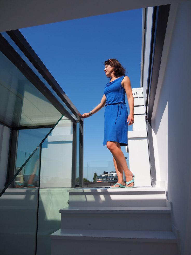 Easy rooftop entrance with Sliding Box Skylight: Three Wall Box
