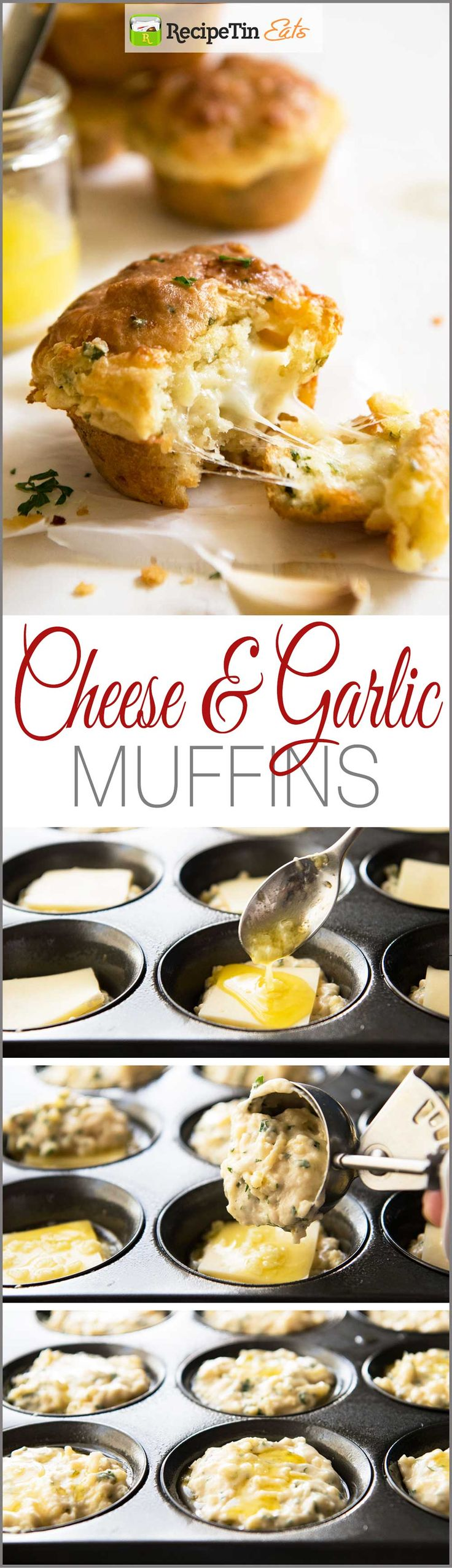 Cheese & Garlic Muffins | Made these last weekend, everyone said they really do taste like GARLIC BREAD!