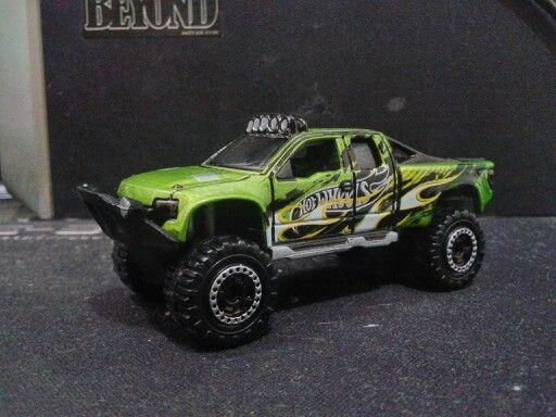 Hotwheels - Sandblaster Green Flame 2 (Customized Wheels)