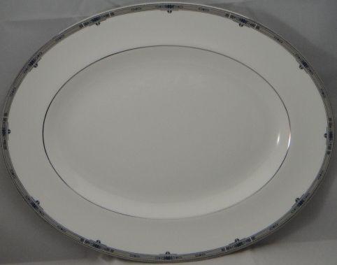 """China :: Wedgwood :: Wedgwood Amherst Platinum :: Wedgwood Amherst Platinum 14"""" Oval Serving Platter"""