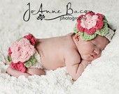 crochet baby stuff: Crochet Baby, Headbands Sets, Crochet Diapers Covers, Baby Girls, Photos Props, Crochet Patterns, Flowers Diapers, Newborns, Crochet Headbands