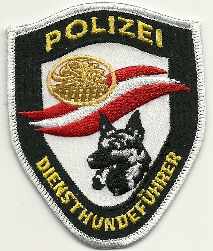 Österreich K-9 DHF Polizei DienstHundeführer  alt   StoffAbzeichen Patch Europa