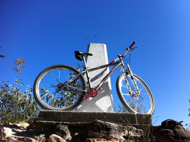 Mount Finchley Trig Point....& my bike. :)