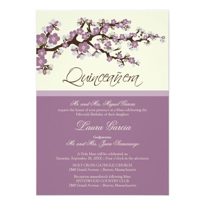 quienceanera invitations