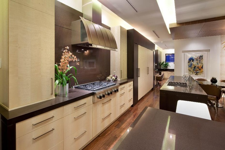 Beautiful cabinets in this modern, streamlined kitchen.