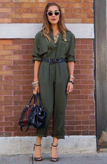 Jumpsuit Street Style Look  available at #Nordstrom