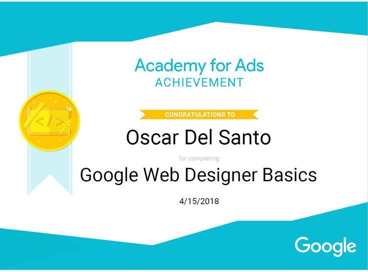 Google WebDesigner Basics 15/4/2018