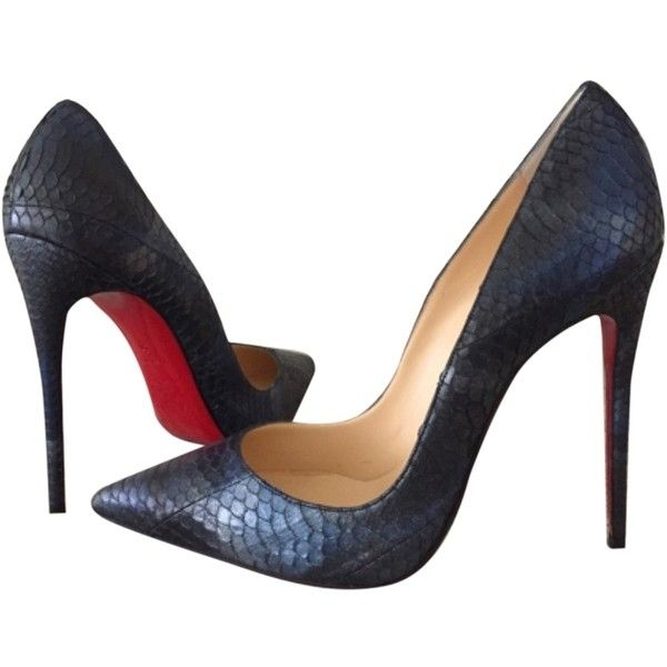 Pre-owned Christian Louboutin So Kate 120mm Us10 Eu40 Navy Pumps (14 540 ZAR) ❤ liked on Polyvore featuring shoes, pumps, navy, leather pumps, navy blue leather shoes, navy blue pumps, leather footwear y navy shoes