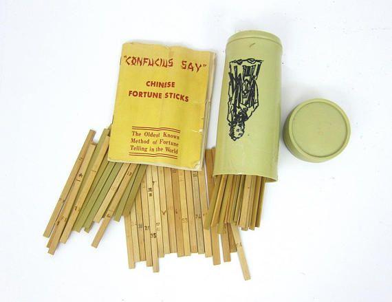 Vintage Confucius Say Fortune Teller Game Retro family game