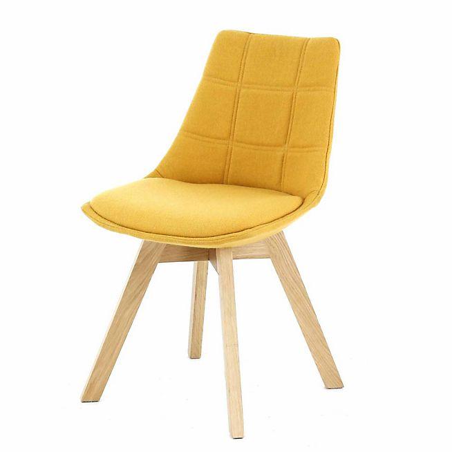 Les 25 meilleures id es de la cat gorie chaises jaunes sur for Salle a manger jaune moutarde