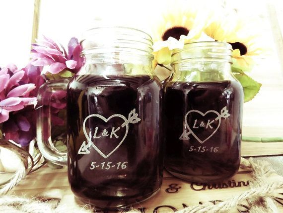 2 Personalized Mason Jars with Handles  FREE by weddingpartygifts