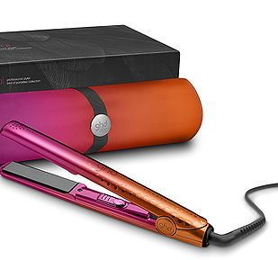 Good Hair Day's (GHD) pink and orange Birds of Paradise collection. Product photography by RGB Digital Ltd, London Studios
