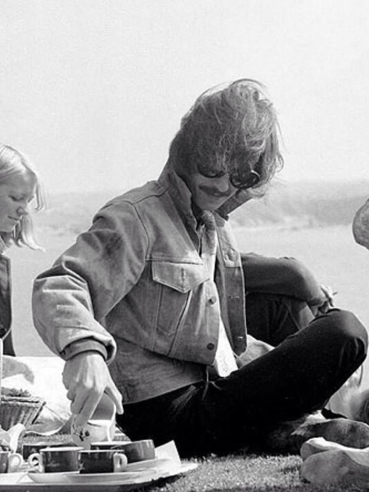 George at the Atlantic Hotel in Newquay, Cornwall during the filming of Magical Mystery Tour in September 1967.