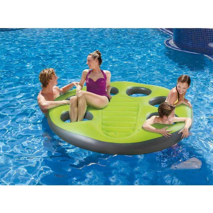 Giant Inflatable Raft Pool Floating Island Water Lounge Fits Up To 7 People