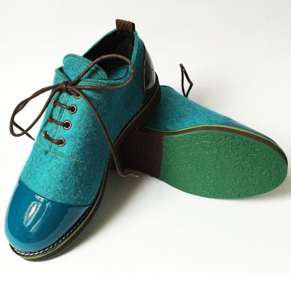 SKY BLUE shoes is a new spring model. The shoes are made from natural wool, so your feet wont get wet when it is +20 C degrees. ✸ sky blue wool felt ✸