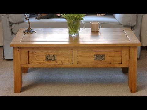 Rustic Oak Coffee Table With Drawers Including Free Delivery 608 014 Pine Solutions