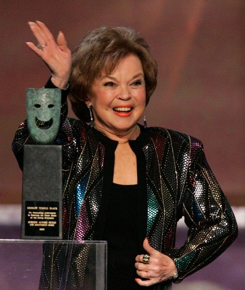 Actress Shirley Temple Black accepts the Life Achievement Award onstage during the 12th Annual Screen Actors Guild Awards held at the Shrine Auditorium on January 29, 2006 in Los Angeles, California.