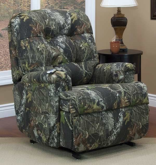 Med-Lift - Reclining Sleeper Power Lift Chair with TV Position and Full Chaise Pad - Real Tree® Camouflage Fabric - 5555-RTX-FS