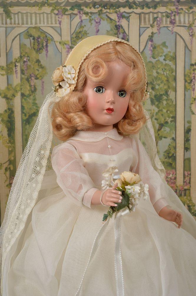 RARE Gorgeous 1950 Madame Alexander Peggy Bride - NO RESERVE  #MadameAlexander #Dolls