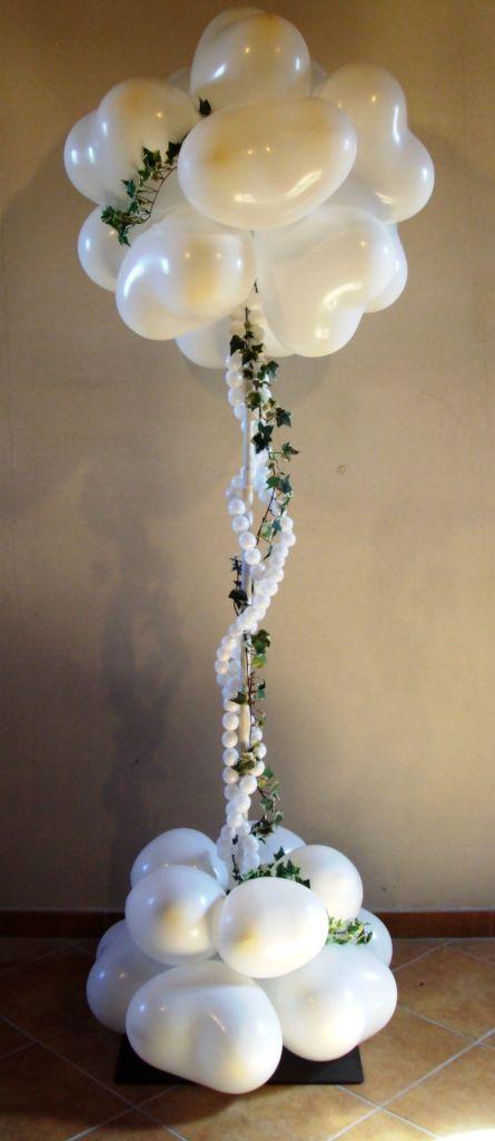 Wedding column. #balloon-column #balloon-decor #balloon-wedding-decor #balloon-topiary