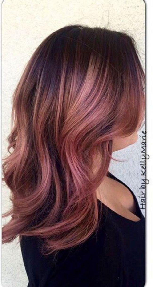 Rose Gold Hair Ideas 711