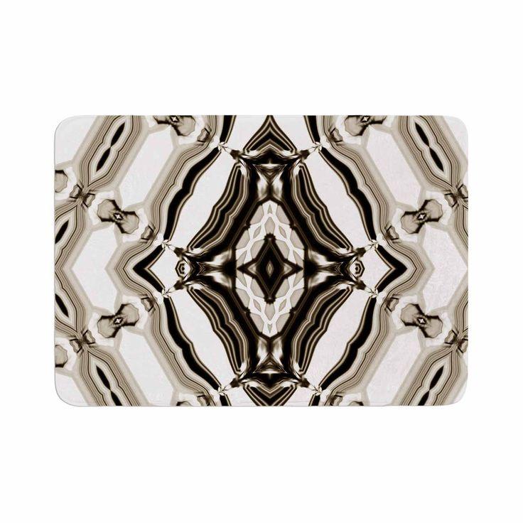"Dawid Roc ""Inspired By Psychedelic Art 6"" Brown Pattern Memory Foam Bath Mat"