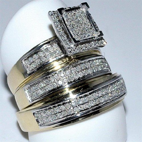17 best images about wedding sets on pinterest cheap for Cheap bridal wedding ring sets