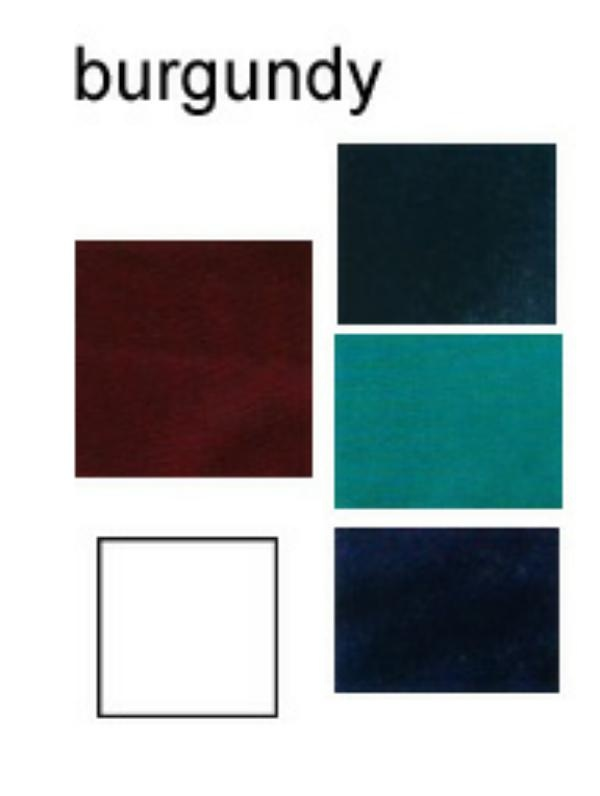 burgundy with blues/teals